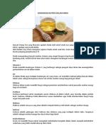 09. Kandungan Nutrisi Dalam Madu. Madu Murni, Madu Royal Jelly, Madu Bee Pollen, Madu Propolis