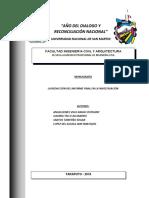 La Redacción del Informe Final de la Investigación