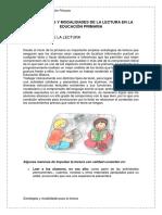 Estrategias y Modalidades de La Lectura en La Educación Primaria
