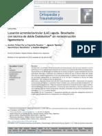 2018 Luxación acromioclavicular (LAC) aguda. Resultados con técnica de doble Endobutton® sin reconstrucción ligamentaria
