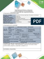 Guía Para El Desarrollo Del Componente Práctico - Fase 4 - Desarrollar Visita de Campo Sistema de Aprovechamiento Yo Valorizacion de RS