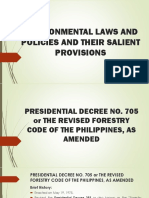 Environmental Laws and Policies and Their Salient Provisions