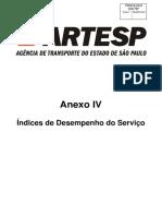Anexo IV - Índices de Desempenho Do Serviço