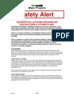 Alert 34 Quick-hitches on Excavators