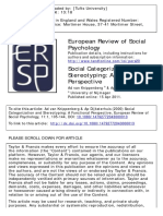 Social Categorization and StereotypingA Functional Perspective Ad Van Knippenberg