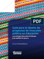 Guia Pip en Educacion Enfoque Intercultural Bilinguie Equidad de Genero