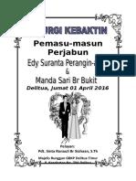 Liturgi Pasu-pasu Edy Suranta PA DTT