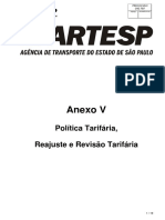 Anexo v - Política Tarifária