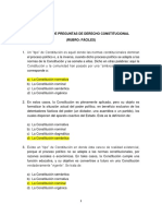 Preguntas de Derecho Constitucional - Fáciles