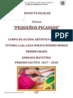 Proyecto Educativo Pintura 1er Grado