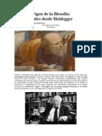 Sobre El Origen de La Filosofía