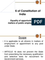 Article 16 of Constitution of India