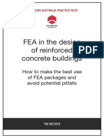 Finite Element Analysis in the Design of Reinforced Concrete Buildings