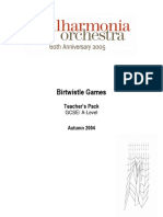 Birtwistle Games - Philarmonia Orchestra
