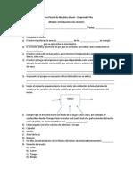 Examen Parcial de Mecánica Diesel- Introducción a Los Motores