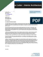 Interior Architecture Cover Letter