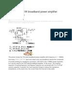 1M _ 50MHZ 1W Broadband Power Amplifier Circuit Diagram_Circuit Diagram World