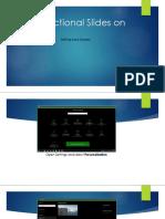 Instructional Slides on Lock Screen