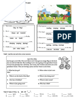 2 nd grade gap Filling-words-reading With Open Questions-Articles