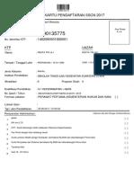Kartu Pendaftaran Sscn 2017
