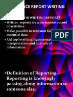 Intelligence Report Writing