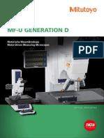 Mitutoyo - Mikroskopy Pomiarowe MF-U Generacja D - PRE1399 - 2014 EN