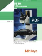 Mitutoyo - Mikroskopy Pomiarowe TM-505, TM-510 - 2122 - 2014 EN