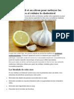 Cure Ail Et Citron