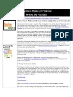 Develop a Research Proposal