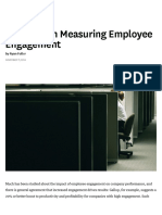 A Primer on Measuring Employee Engagement