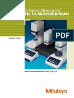 Mitutoyo - Precyzyjny Przyrząd Pomiarowy Litematic VL-50B, 50S-B, 50AH - E13006 - 2012 EN