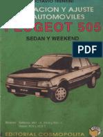 Peugeot 505. Reparación y Ajuste de Automóviles Sedan y Weekend.