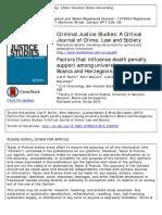 Death Penalty Support Bosnia USA