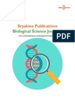Biological Science Journals - Sryahwa Publications