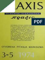 Praxis, Filozofski Dvomjesečnik, 1974.