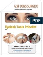 Price List of Eyelash Tools SS SURGICO