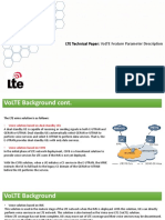 LTE Technical Paper. VoLTE Feature Parameter Description