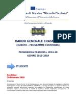 Bari Studenti Bando Erasm 2018 19