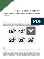 2G, 3G, 4G, 5G - u Čemu Je Razlika