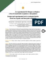 Diseño y Prueba Experimental de Bloques Ecológicos