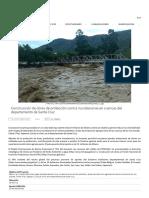 Construcción de Obras de Protección Contra Inundaciones en Cuencas Del Departamento de Santa Cruz
