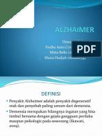 ALZHAIMER PPT