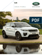 18MY Range Rover Evoque Specification