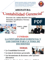 I UNIDAD de CONTABILIDAD GERENCIAL 2018A Definitivo Para Clases a Partir Del 16 de Abril 2018 Pasado a CD El 23 Abril