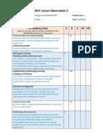 khadega ahmed h00307975 mct lesson observation 2 feedback form