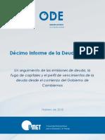 ODE UMET Informe 10o de La Deuda Febrero 2018 v8