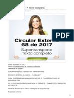 Circular 68 de 2017 PESV