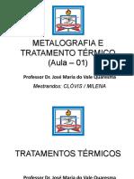 Metalografia e Tratamento Térmico - Aula 01