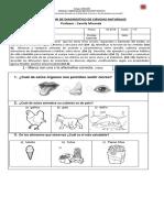 Evaluación de Diagnostico de Ciencias Naturales Camila