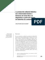 La producción editorial didáctica de la Universidad Estatal a  Distancia de Costa Rica